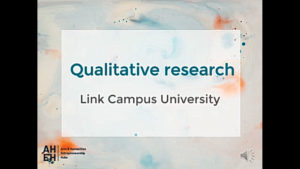 Qualitative Research - Link Campus University