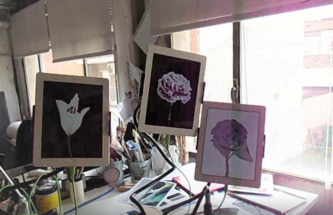 Visual artist Mónica Sánchez Robles studio